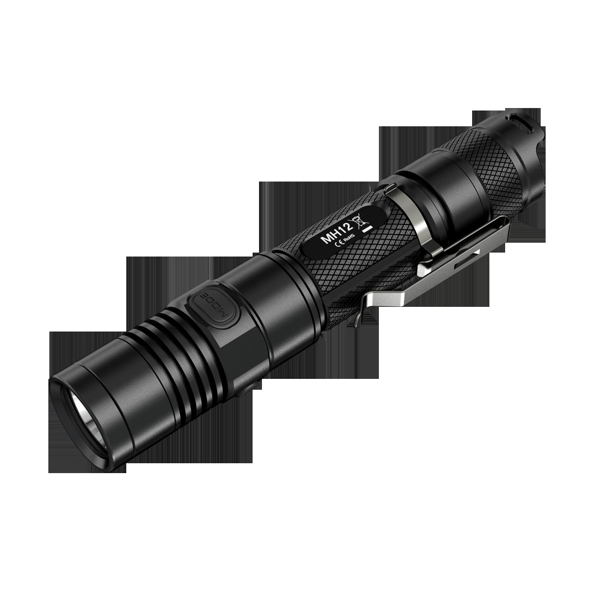 Nitecore mh10/mh12: micro usb, xm-l2(u2) led, max. 1000 lumens.