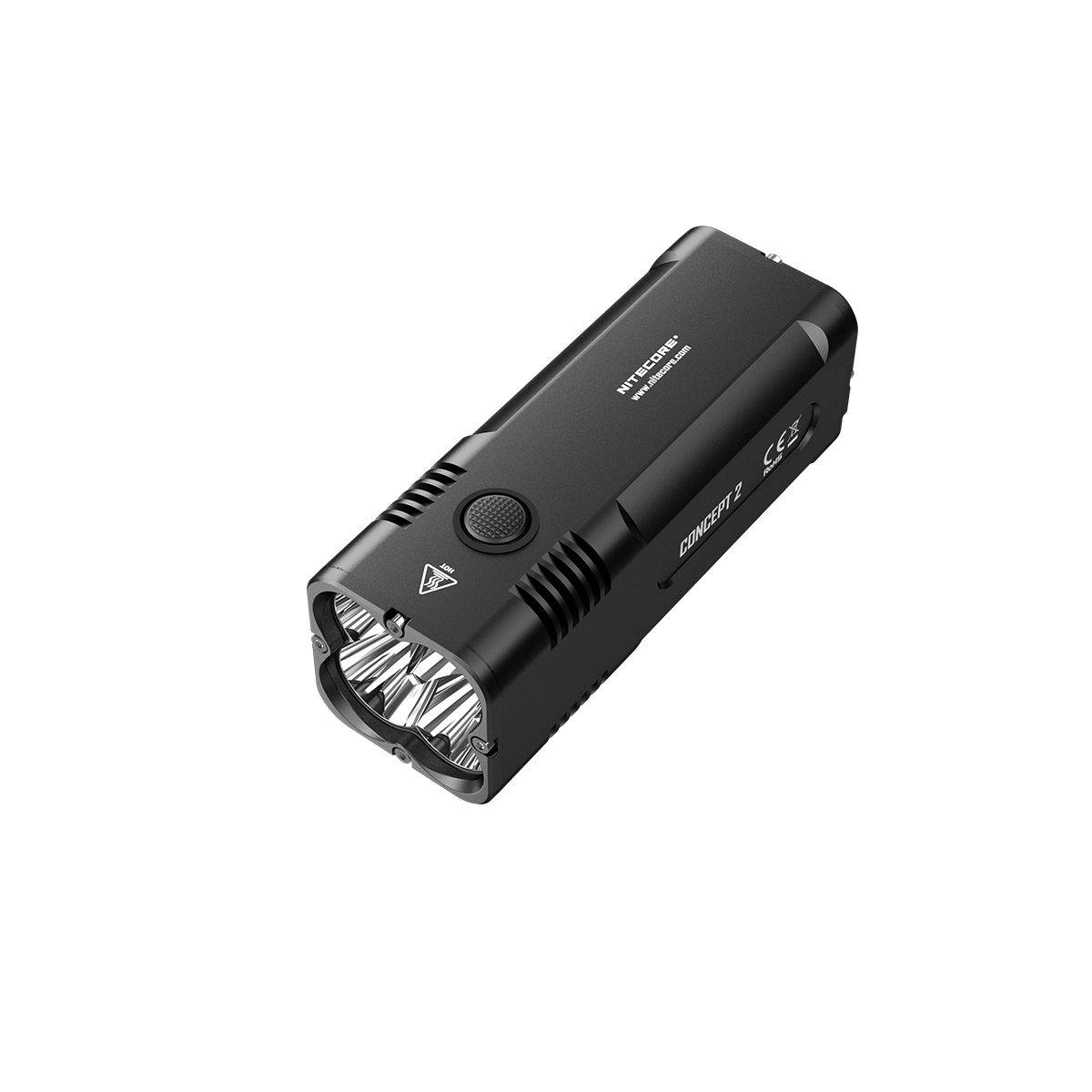 Outdoor Taschenlampe 4x CREE XHP35 HD LED 6500 Lumen 398m Nitecore Concept 2