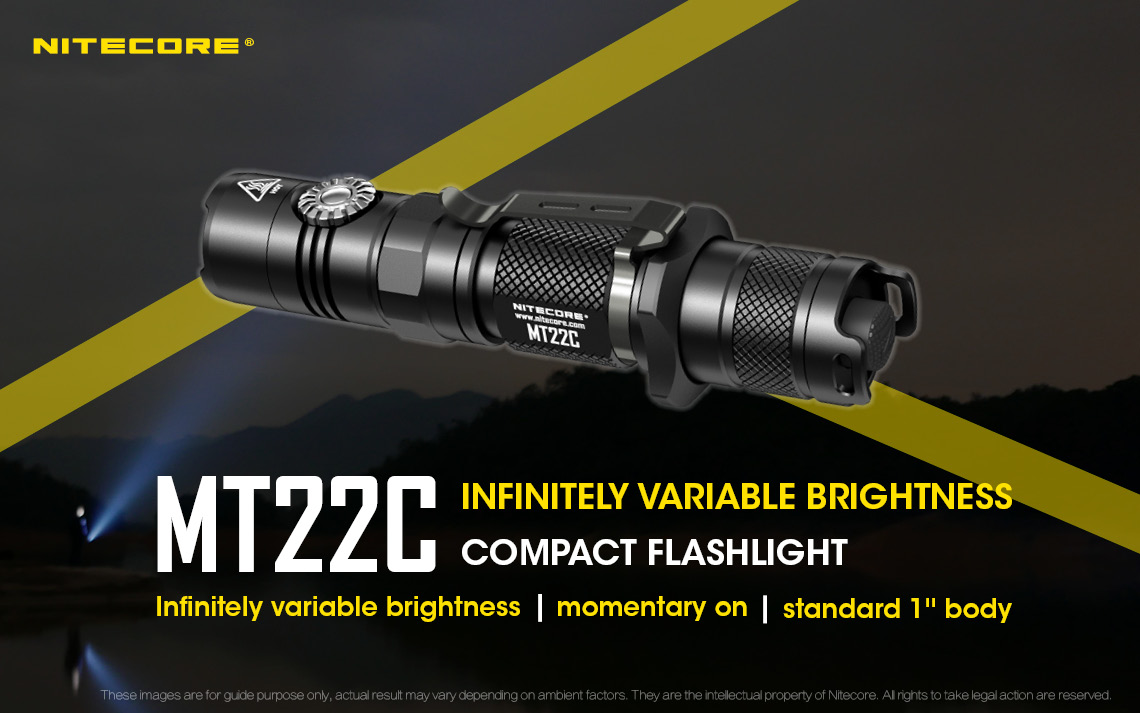 1000 Lumens Nitecore mt22c-Lampe Torche Avec Cree XP-l HD v6 DEL 185 M Large