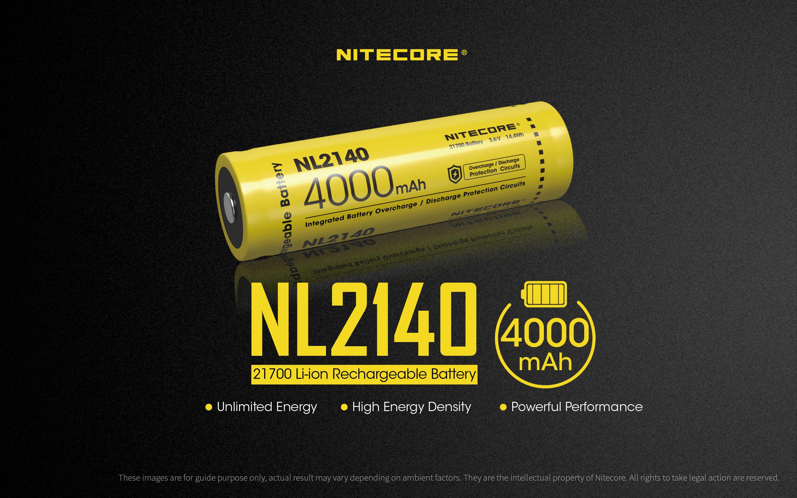Nitecore NL2140 21700 4000mAh