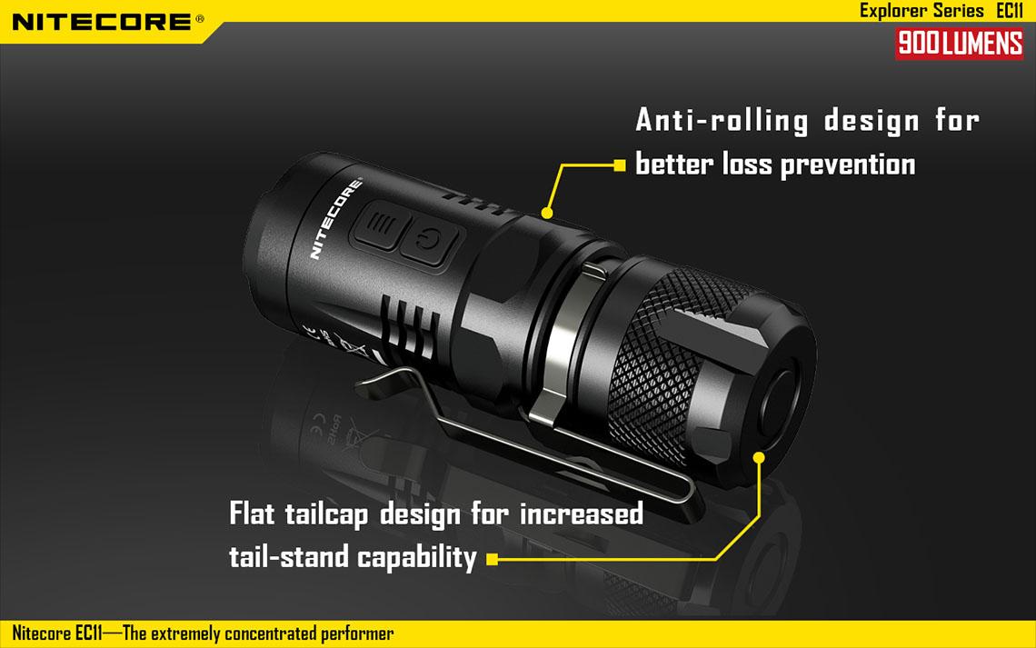 LED Taschenlampe NITECORE EA11 Cree XM-L2U2 wasserdicht 900 Lumen PROFI Angeln