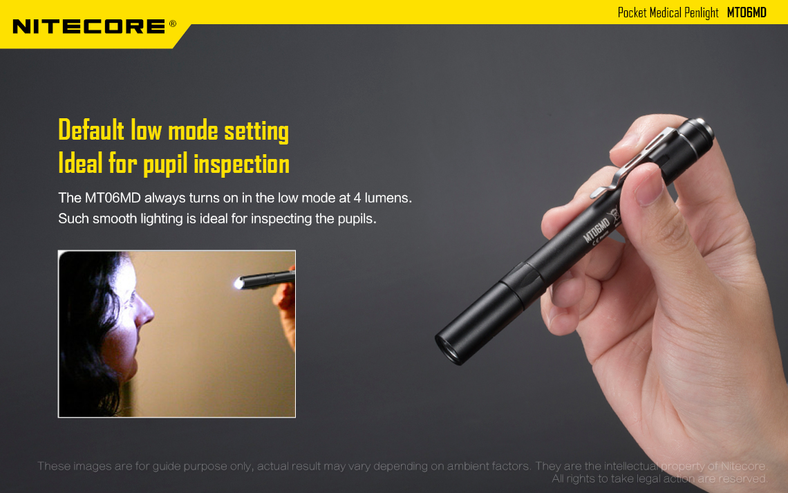 ไฟฉายทรงปากกา Nitecore MT06MD